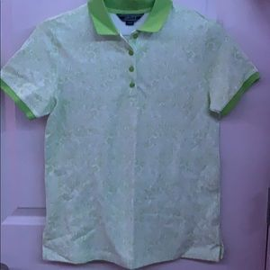 Lands End Green Golf Shirt